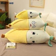 Peluche banane douce jaune 45-90cm, Fruit mignon, poupée en peluche, oreiller de dessin animé, décoration de maison, cadeau de noël pour bébé fille