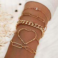 Modyle Miami Curb Cuban Bracelets Hip Hop Chunky Thick Punk Metal Twisted Rope Chain Bracelet Jewelry Gift