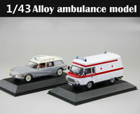 Special Offer 1:43 French Restoration ID19 B1000 Ambulance model Alloy Collection Model