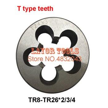 1 sztuk TR8 TR10 TR12 TR14 TR16 TR20 TR22 TR24 Die 2/3/4, prawo/lewa ręka T = TR trapezowe okrągły die T umrzeć, gwintowania narzędzia tokarka