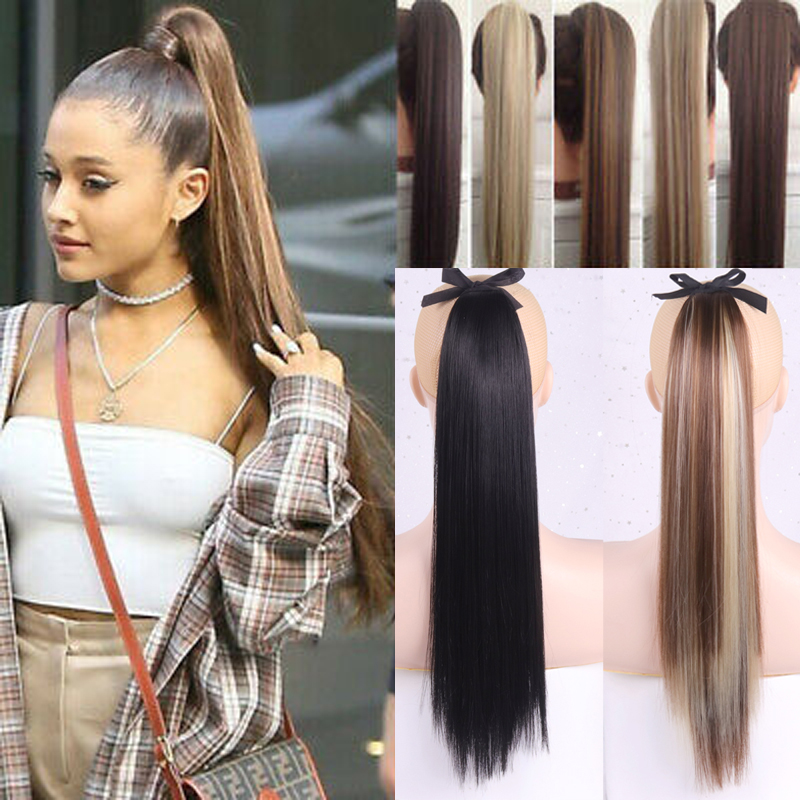 WERD Natural Ponytail Black Brown Artificial Rope High Temperature Synthetic Fiber Suitable For Hair Extension Wig