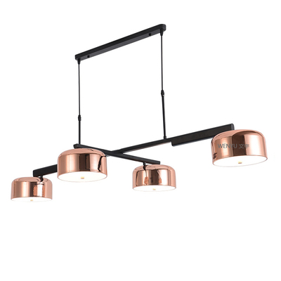 Modern Gold Chandelier LED Lamp Light For Dining Room 4 Lights Rotatable Iron Ceiling Chandeliers For Kitchen Living Room