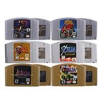 64 bits jogo de vídeo cartucho jogos console cartão zeld série inglês idioma eua versão para nintendo