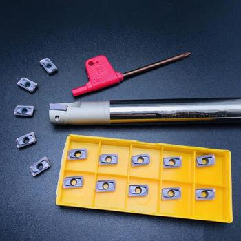 10PCS APMT1135 lathe tool + BAP300R C20-21-200-2T HSS inner diameter indexable shoulder milling cutter bar BAP milling cutter