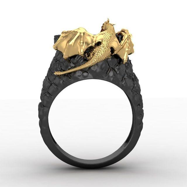 Bague dragon homme