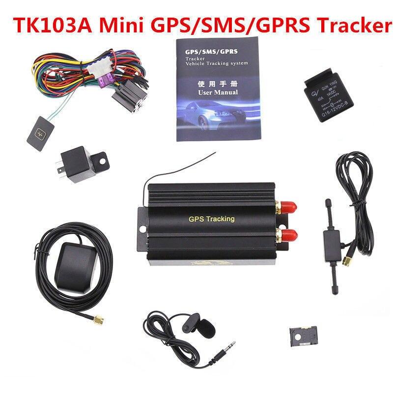 Автомобильный GPS-трекер с GSM/GPRS, трекер в реальном времени Tk103A, GPS 103A, датчик удара двери, система отслеживания сигнализации ACC