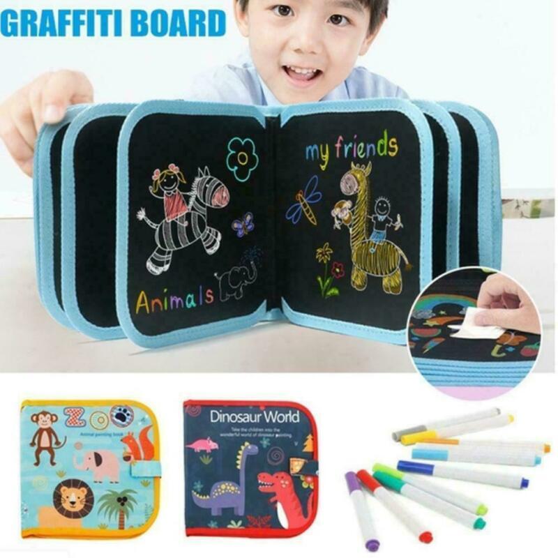 Portable Painting Book Graffiti Board Writing Pad Erasable Drawing Board Gift