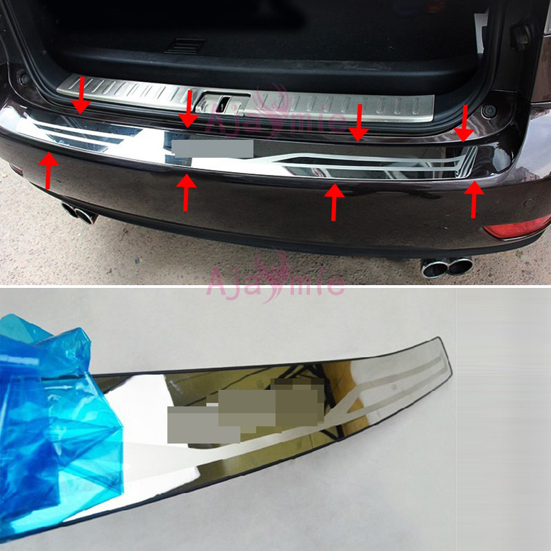 Rear Bumper Protector Trunk Door Sill Cover Trim 2009 2015 Stainless Steel Car Styling for lexus