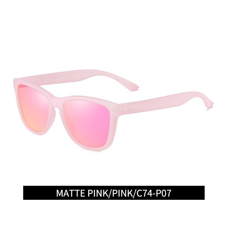Reggaeon feminino óculos de sol polarizados uv400 alta qualidade mulher pesca condução esportes ao ar livre óculos de sol rosa
