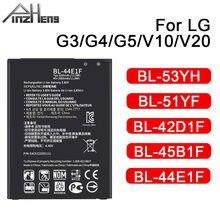 PINZHENG bateria telefonu komórkowego dla LG G3 G4 G5 V10 V20 baterii BL-53YH BL-51YF BL-42D1F BL-45B1F BL-44E1F akumulatorki zamienne