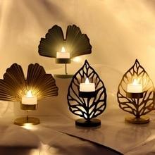 Nordic Iron Art Candlestick Table Decoracion Romantic Dinner Decoration Gold Candle Holder Wedding Centerpiece Tea Light Holder