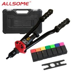 Allsome BT-607 Klinknagel Tool Kit Rivnut Setting Tool Moer Setter Nutsert Hand Klinkhamer Guns Opspandoorns M3 M4 M5 M6 M8 m10 M12 HT2778