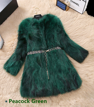Real Photos 2019 New Fashion Ladies Fur Coat Flurry & Warm Winter Jacket Plus Size Green Purple Black Red