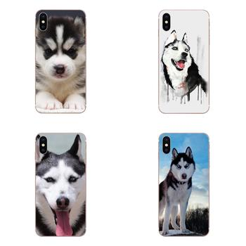 Funny Dog Husky Puppy Picture Phone Case For Sony Xperia Z Z1 Z2 Z3 Z4 Z5 compact Mini M2 M4 M5 T3 E3 E5 XA XA1 XZ Premium image