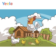 Yeele Baby Birthday Party Photography Backgrounds Cartoon Farm Chicken Animal Custom Photographic Backdrop For Photo Studio