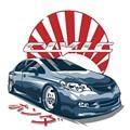 Забавная японская виниловая наклейка 13 см X 12,8 см для Honda Civic FD JDM, автомобильные наклейки, водонепроницаемые аксессуары, наклейка на бампер и ...