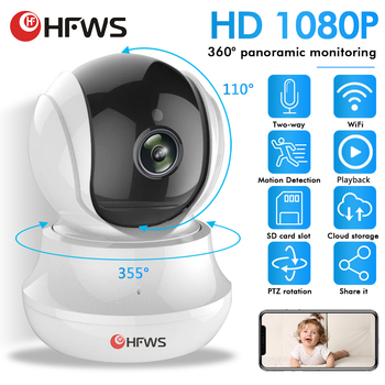 HFWS ip camera Wifi video surveillance 1080P 2MP security camera For Home wirele cctv Infrared Night Vision Pet cameras Indoor 100 degree wide angle len ip 1080p network wired security surveillance indoor home cctv camera infrared h 264 dome cameras