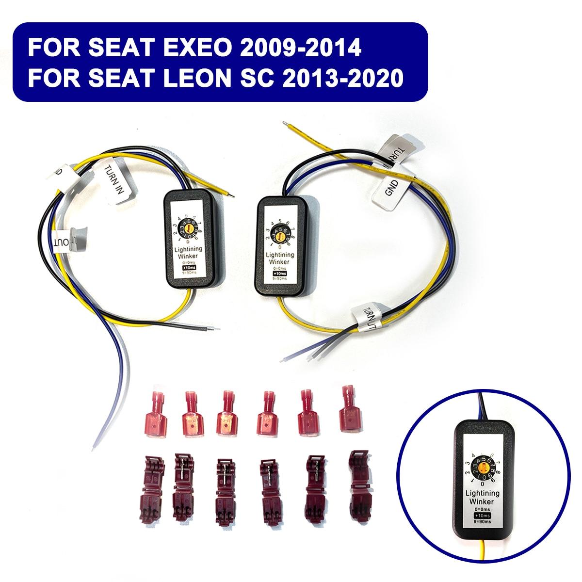 Indicador de señal de giro dinámico 2 uds. Para Seat Exeo 2009-2014, para Seat Leon 5F SC 2013-2020, módulo de luz LED trasera, arnés de Cable