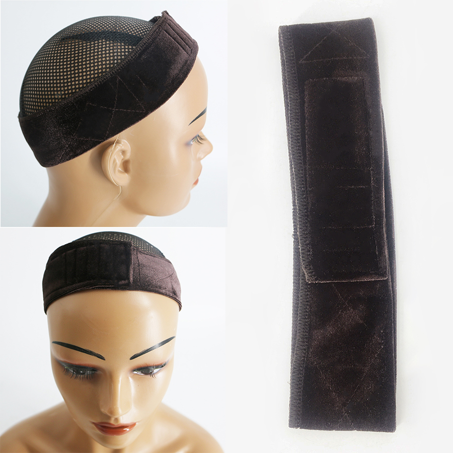 Headband Non Slip Adjustable Fastener Comfort Thin Wig Grip Band Lace Parting Wig Grips Headband 2 Colors