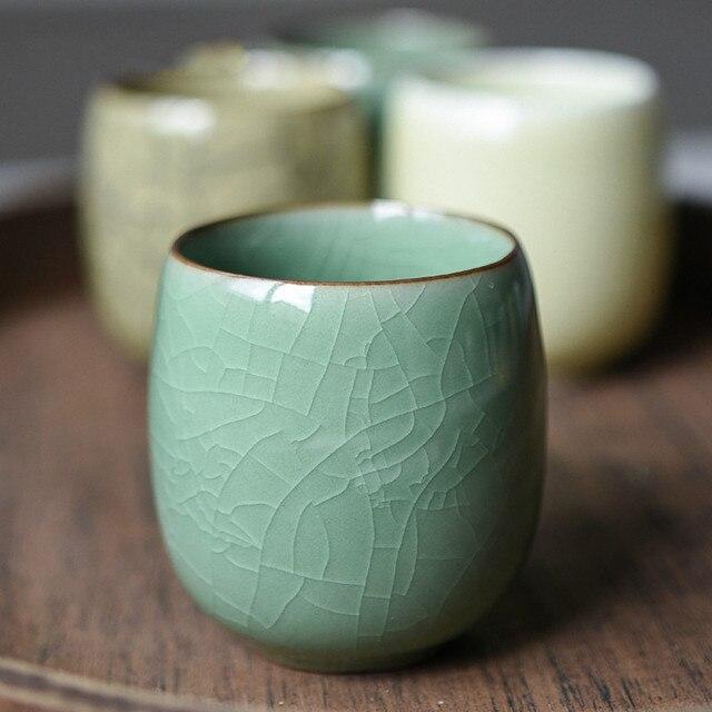 Tasse à thé en céramique style céladon craquelé Tasses et Mugs Cocooning.net
