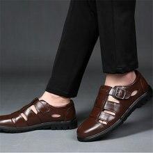 Повседневная обувь; Мужские сандалии; Кожаные мужские Офисные