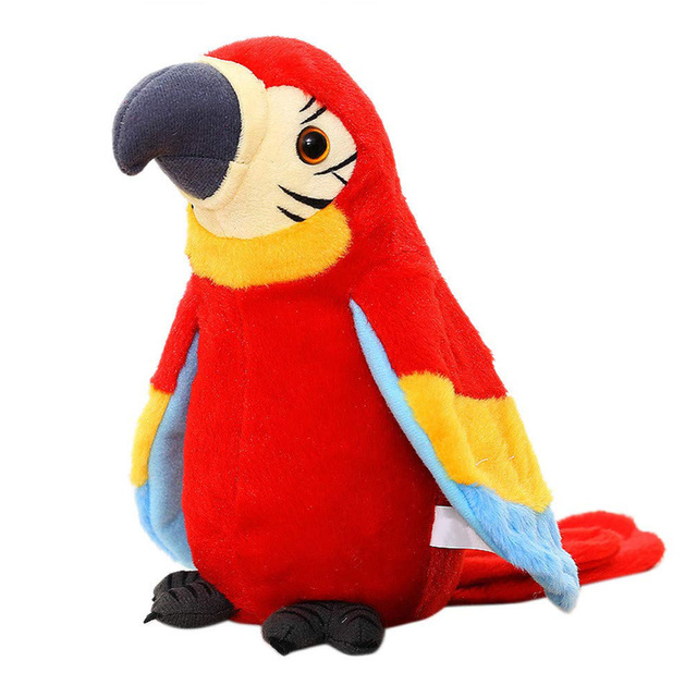 Electric Talking Parrot Plush Toy Repeat What You Said Recording Learning Twisting Fan Wings Parrot Toy Children Birthday Gift
