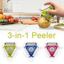 3 em 1 multi função de três uso rotativo pendurado redonda plaina descascador e cortador vegetal slicer cozinha ferramentas gadgets