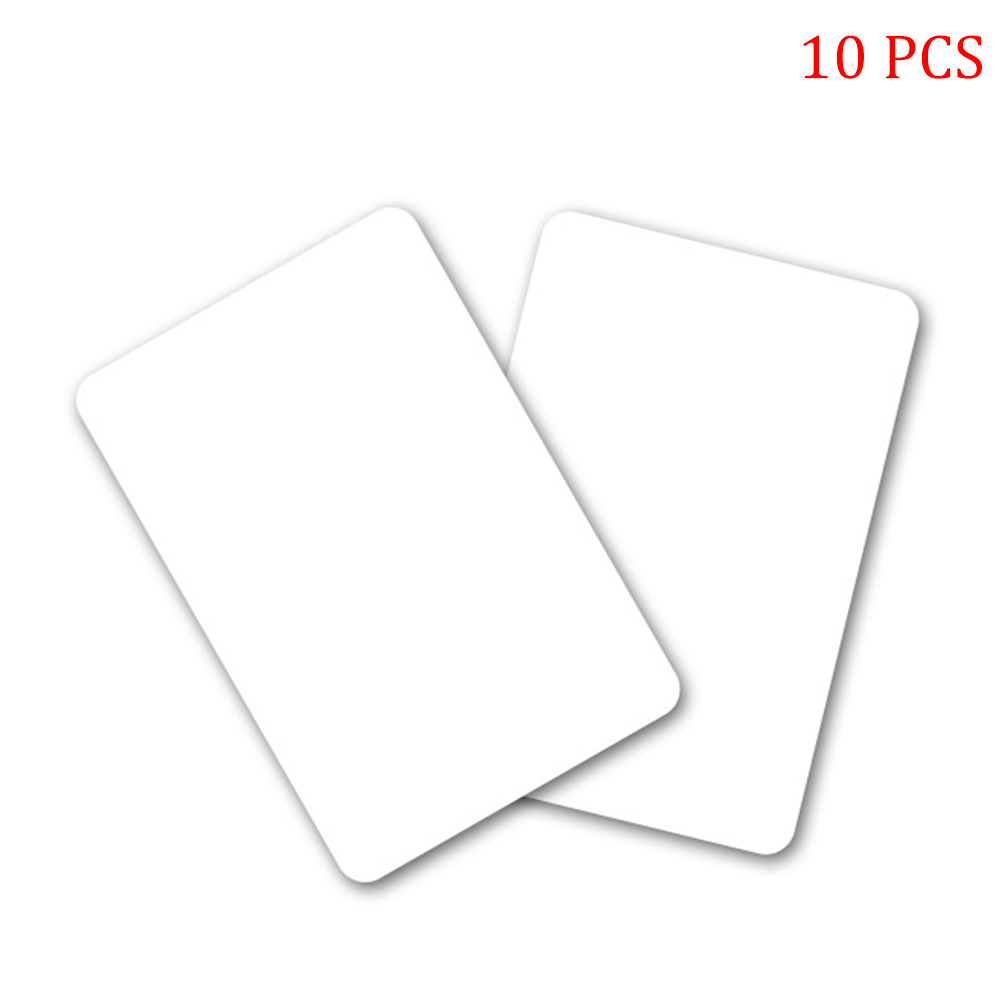 10pcs 50pcs Fast Reader White Blank PVC NFC Cards Rewriteable Waterproof Elevator Durable Portable NTAG215 Smart Access Control