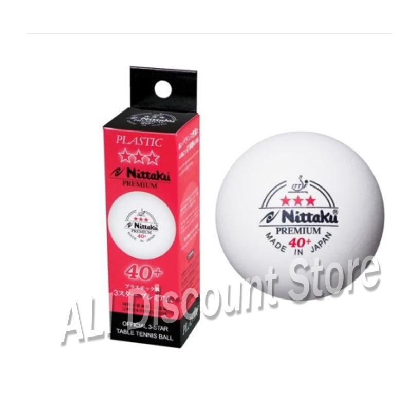Genuine Nittaku ITTF Approved 3-Star PREMIUM 40+ Table Tennis Balls Plastic Ball
