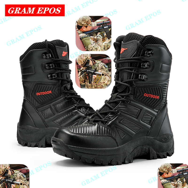 New Military Boots Men Special Force Tactical Desert Combat Snow Shoes Outdoor Male Tracking Mens Tactical Boot Work Shoes Men