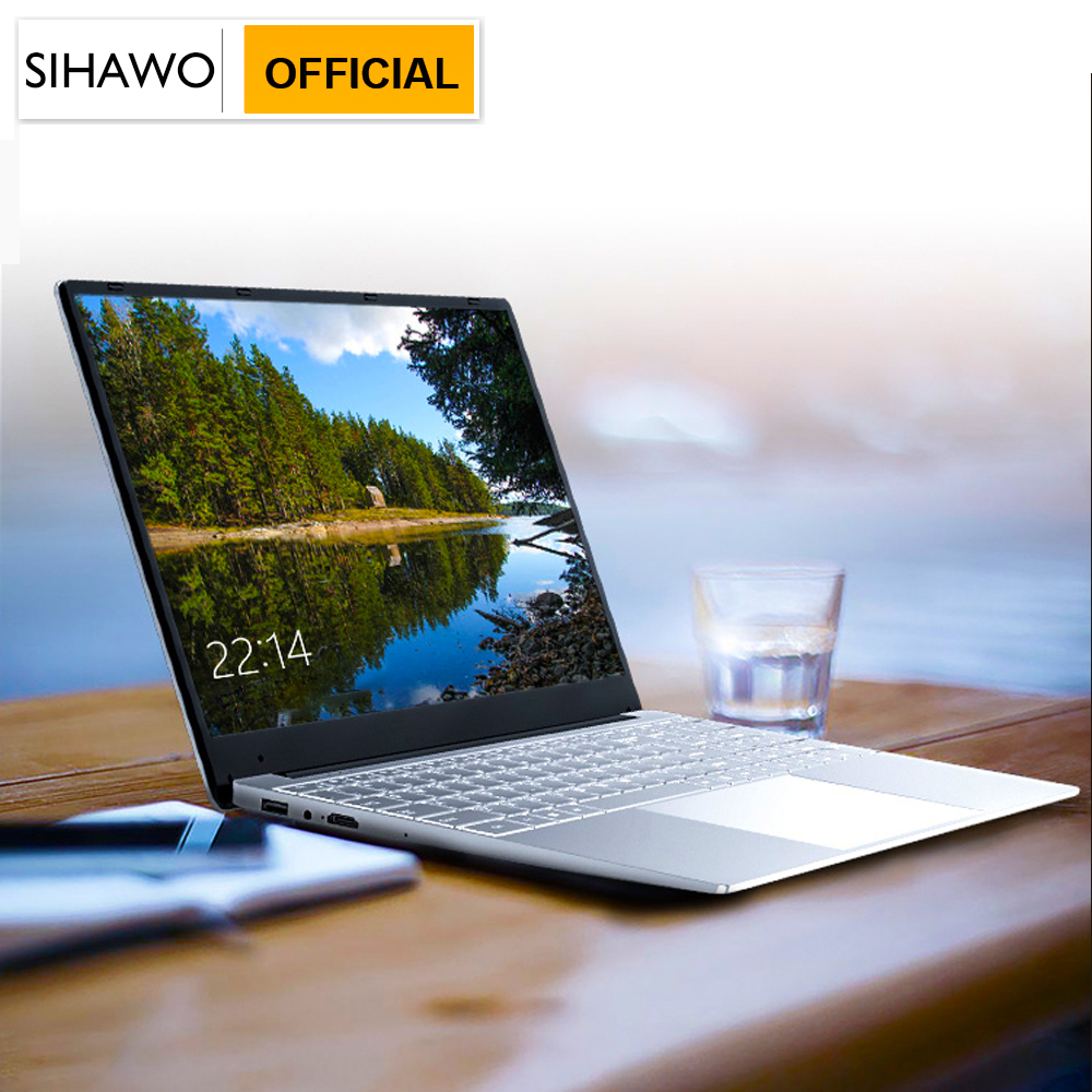 15.6 Inch 1920*1080 Intel Core i3 5005U Windows10 8GB RAM 128G SSD Laptop with Backlit Full Layout Keyboard Metal Cover Notebook