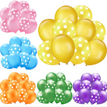 10PCS 12 inch 2.9G thick wave point latex balloon set wedding