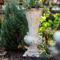 Classical Goblet Flower Retro Vase Nostalgic Large 56cm Floor Flower Pot For Homes Garden Hotel Gate Vases Wedding Tabletop Vase