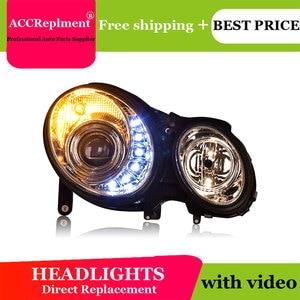 Image 4 - For Benz W211 2003 2009 Headlights All LED Headlight DRL Dynamic Signal Hid Head Lamp Bi Xenon Beam Accessories Car Styling