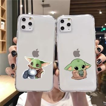 Funda para iPhone 11 XS XR XS Max 8 7 6 6S Plus, funda divertida para Baby Yoda Meme, funda 2020 para iPhone 11 XR XS Max 8 7, funda trasera