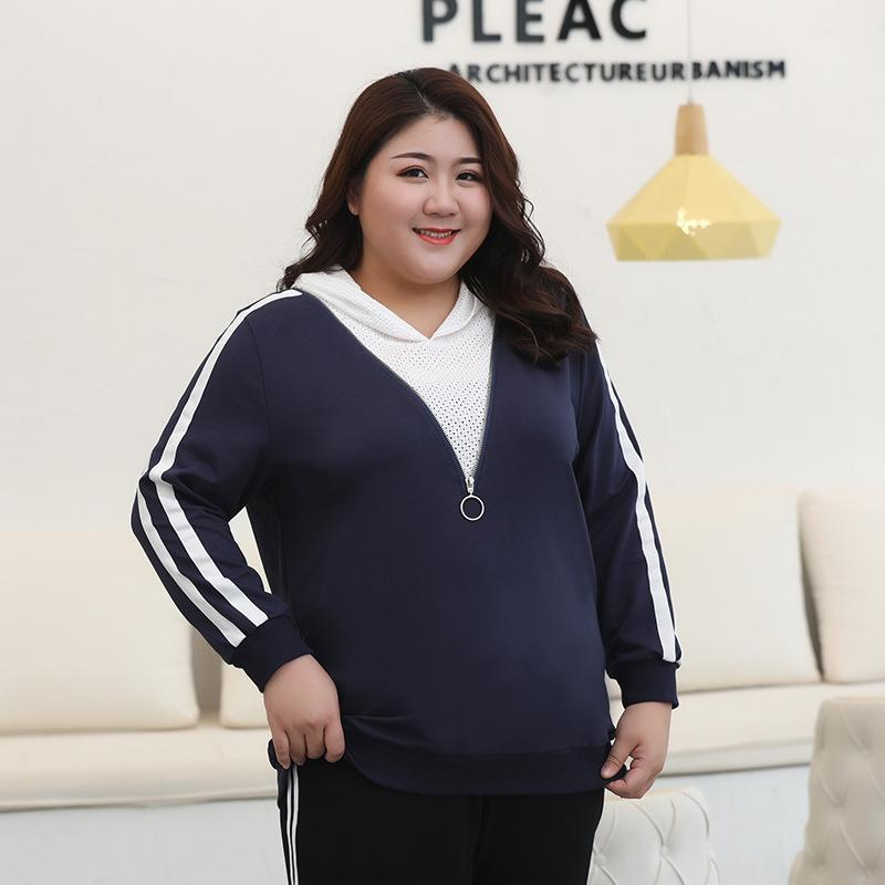3XL-7XL 2019 Women Plus size Hoodies Sweatershirts Autumn Casual Hooded Pullovers 5XL 6XL Large Size Sweatershirt Tops