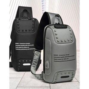 Image 5 - חדש OZUKO משולב Crossbody שקיות עבור גברים נגד גניבת חבילת חזה תיק זכר קצר טיול עמיד למים כתף שליחי תיק 2020