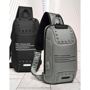 Image 5 - 新しいozuko多機能クロスボディバッグ男性のアンチ盗難防止胸パックバッグ男性旅行防水ショルダーバッグメッセンジャーバッグ2020