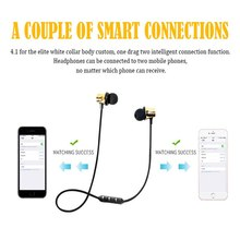 цена на MP3 MP4 Computer Wireless Bluetooth Earphone Sports Headphone Sweatproof  Metal Magnetic Earpiece  For Mobile Phone