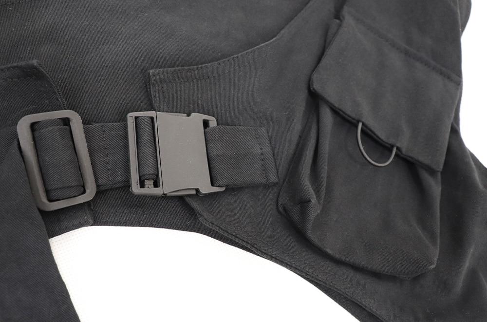 streetwear um ombro colete tático funcional fivela