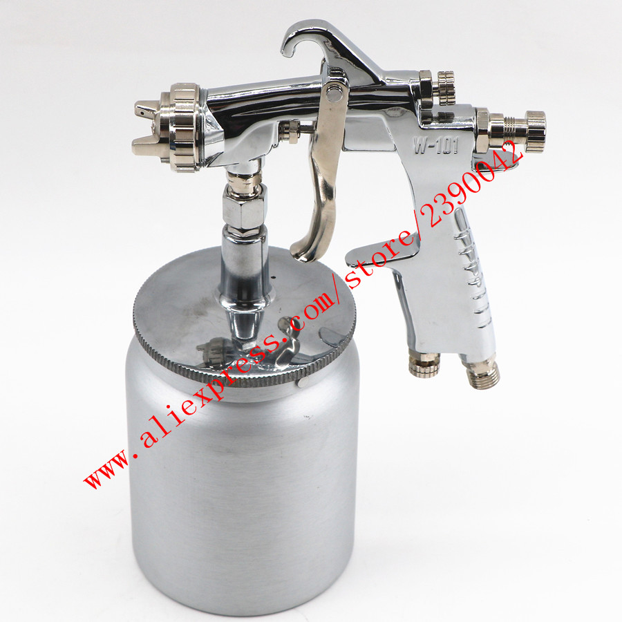 Japan W101 HVLP Hand Manual W-101 Spray Gun 0.8/1.0/1.3/1.5/1.8mm 600ml Furniture Coating Car Paint Gun Paint Pistol