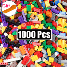 1000 Pieces DIY Building Blocks Bulk Sets City Creative INGs Classic Technic Bricks Creator Toys For Children Christmas Gift cheap Unisex 6 years old Small building block(Compatible with Lego) Certificate 2019012203183937 Use over 6 years old Plastic
