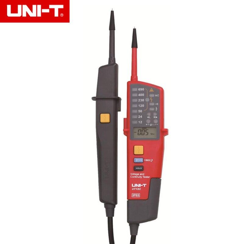 UNI-T UT18C automatikus feszültségmérő folytonosság tesztelő LCD / LED kijelzése Dátum tartás RCD teszt Nincs elem érzékelő