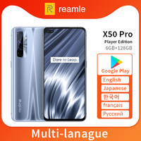 Realme X50 Pro X50 5G 6GB 128GB 6.44 90Hz SuperAmoled 화면 Moblie 전화 금어초 865 핸드폰 65W Superdart 충전