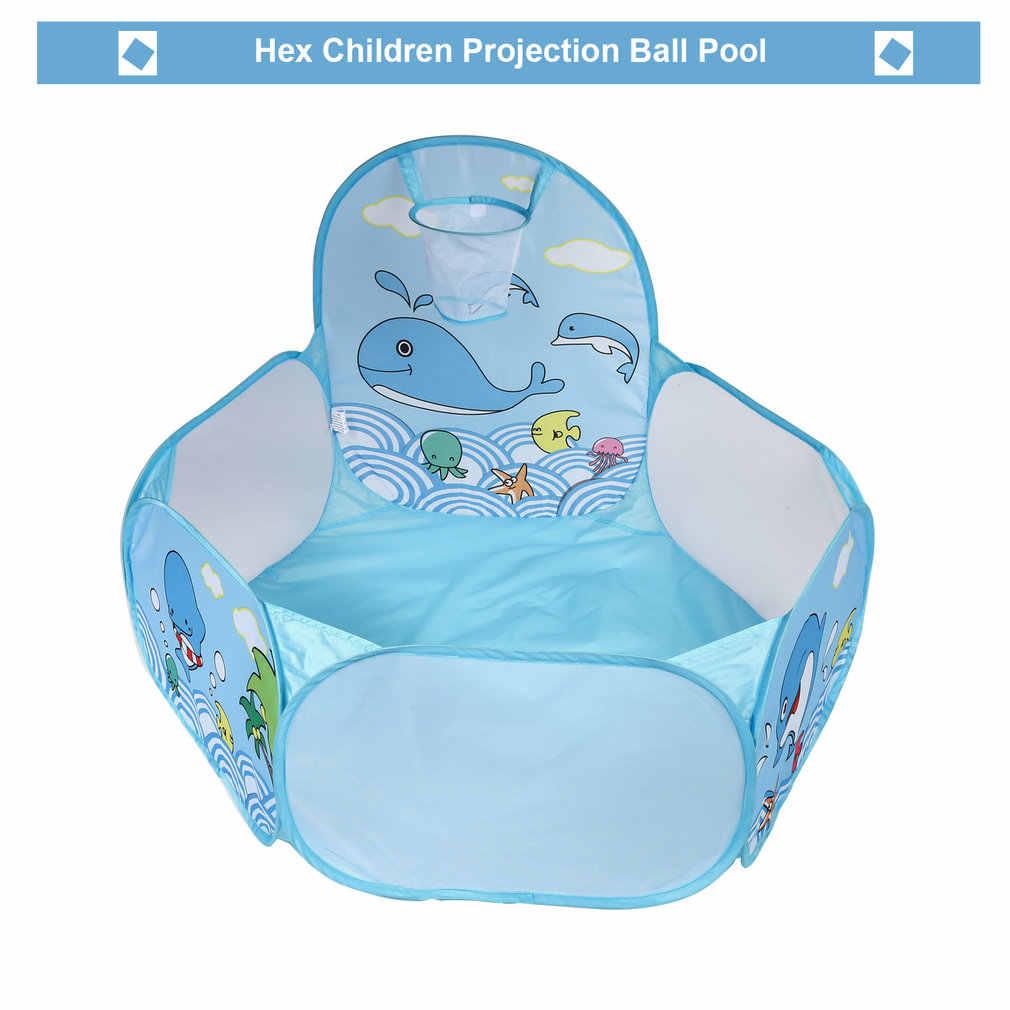 ピンク & ブルー子供ポップアップ六角海洋ボールスイムピットプールゲームプレイテントで Seaballs ボールフープ/屋外演奏家ボールプール