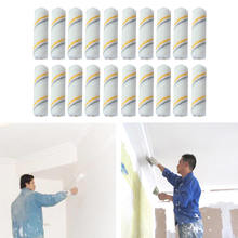 20*Mini Craft Paint Foam Rollers Paint Roller Brush Decorators Brush Smooth Tools Decorating Painting Tool 4 Inch White image