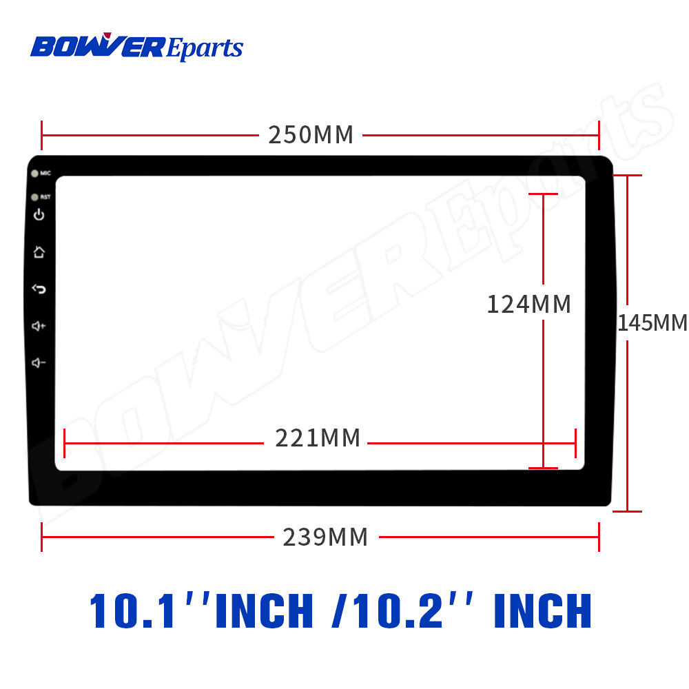 250*145*239MM 10.1inch Fiber Tempered Glass Protective Film Sticker For 10.1inch Car Radio Stereo DVD GPS Touch Full LCD Screen