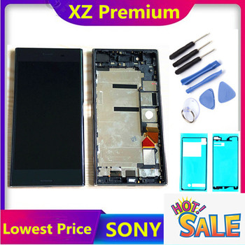 Original LCD Display for Sony Xperia XZP XZ Premium G8142 touch screen 5.5 inch Digitizer Sensor Panel Assembly G8141 with Frame