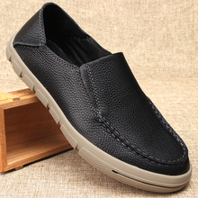 Spring Autumn Genuine Leather Men's Shoes Round Toe Soft Bottom Men Loafer Shoes Breathable Luxury Male Designer Shoes spring and autumn summer genuine leather shoes men doug british soft bottom men s shoes breathable lazy drive shoes male