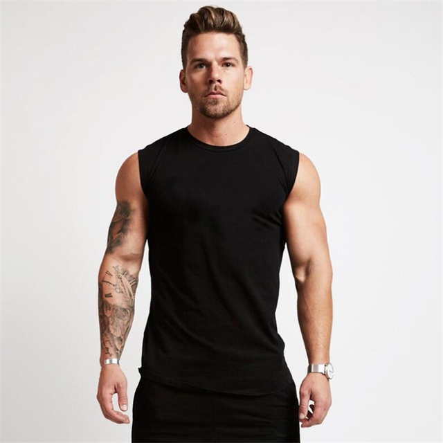 2020 Gym Workout Sleeveless Shirt Tank Top Men Bodybuilding Clothing Fitness Mens Sportwear Vests Muscle Men Tank Tops 1